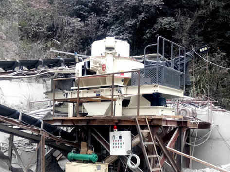珠海河卵石机制砂生产线